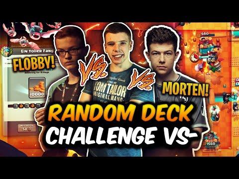 MORTEN vs. BIGSPIN vs. FLOBBY! | EPISCHE RANDOM FISCHER DECK CHALLENGE! | Clash Royale Deutsch