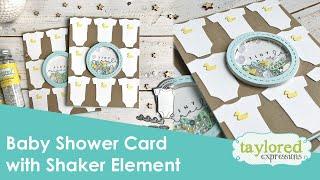Baby Shower Interactive Shaker Card