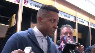 Cj mccollum recaps trail blazers' first preseason game vs. phoenix suns
