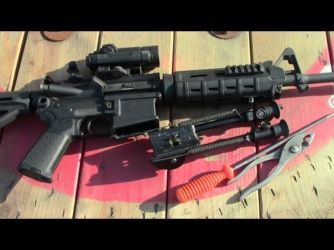 AR15: Harris Bipod Adapter Install By TheGearTester