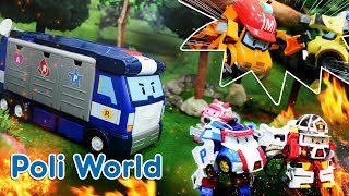 POLI World : Robocar POLI Stop motion series EP02 I POLI rescues the forest