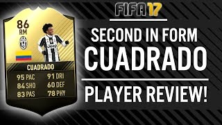 FIFA 17 SECOND IN FORM JUAN CUADRADO (86) PLAYER REVIEW! | FIFA 17 ULTIMATE TEAM(, 2017-03-24T09:00:03.000Z)
