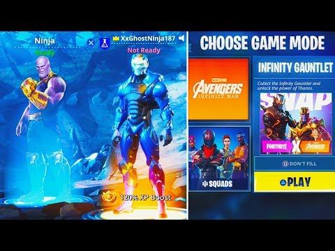 New Thanos Skin Infinity Gauntlet Game Mode New Fortnite
