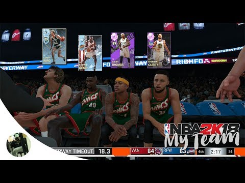 NBA 2K18 MyTeam Supermax! - MY MOST INTENSE MYTEAM GAME EVER! DIAMOND LARRY BIRD!