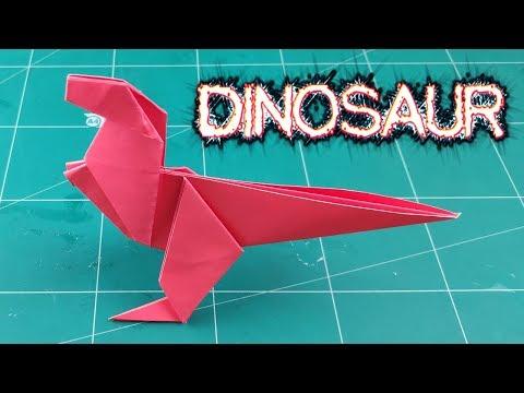 DIY Dinosaur Paper | How To Make Cute Animals Paper (Dino) Tutorials | Easy Origami Craft Ideas