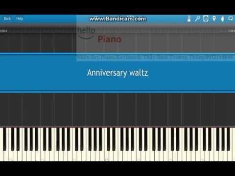 Anniversary Waltz ( Wave of Danube)-Lovely piano waltz