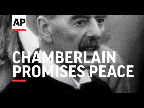 wwii--pm-returns-from-munich-and-promises-peace---1938