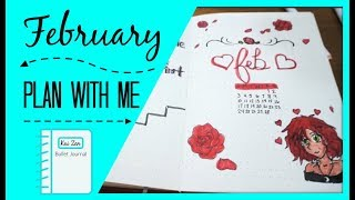 February Bullet Journal Set up 2019   Plan With Me   Zen Chini Vlogs