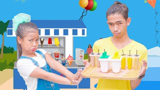 Make Ice Cream from Fruits | Nora Family Show