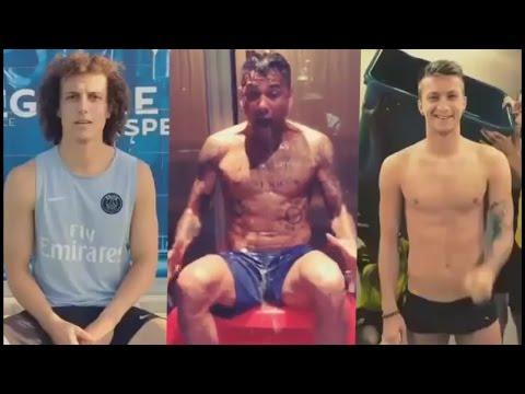 Ice Bucket Challenge Compilation ● FOOTBALL PLAYERS ● Ozil, David Luiz, Reus, Thiago Silva...