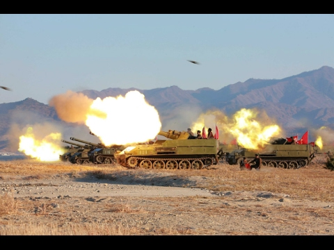 Striking Drill of Korean People's Army Artillery Units - Video
