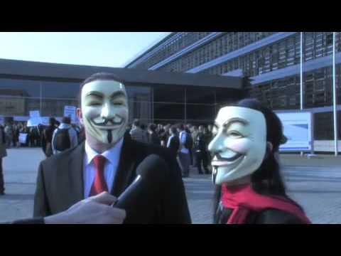Demonstrationen des Chaos Computer Clubs in Berlin am 17  April 2009   Golem de Video