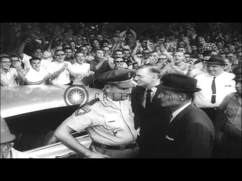 James H Meredith on Mississippi University campus and President John F Kennedy ap...HD Stock Footage