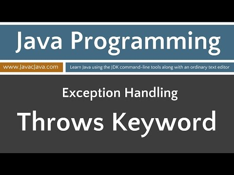 Learn Java Programming - Exceptions: Throws Keyword Tutorial