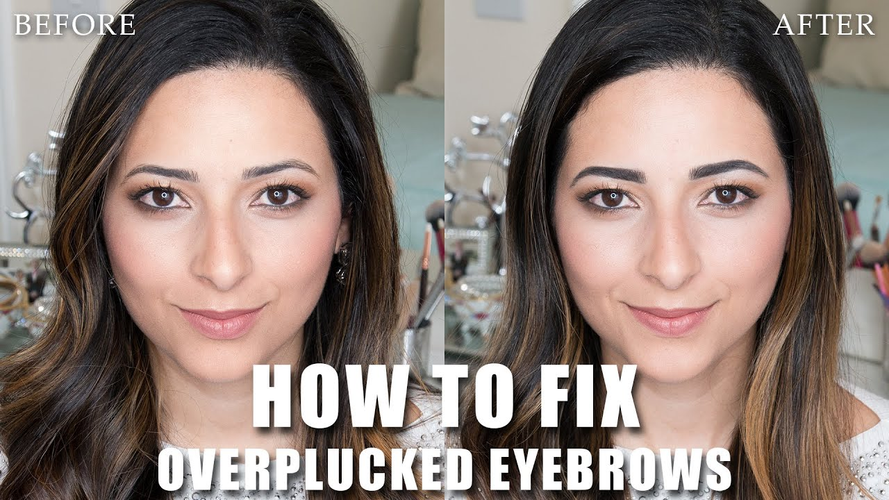 How To Fix Overplucked Eyebrows Ysis Lorenna Youtube