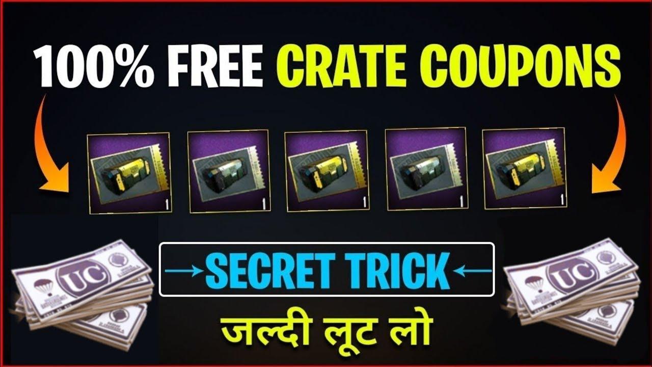 Get Free Classic/Premium Crate Coupon in PUBG Mobile | PUBG Mobile Free Crate Coupon|Free UC    PUBG