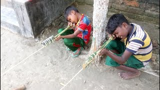How to make gun for kids with Bamboo - amazing Bamboo gun for child in Bangladesh