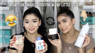 SISTERS SWITCH MAKEUP ROUTINES | Daisy Marquez