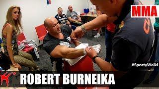 Kulisy KSW 39: Tejpowanie Roberta Burneiki do walki z Popkiem 2017 Video