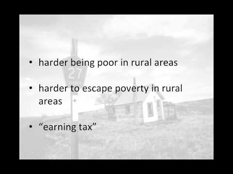 Rural family poverty (narrated by Dr. Lisa Moyer)