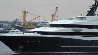 Super Yacht Phoenix 2 Leaving Port Everglades 2-11-2011