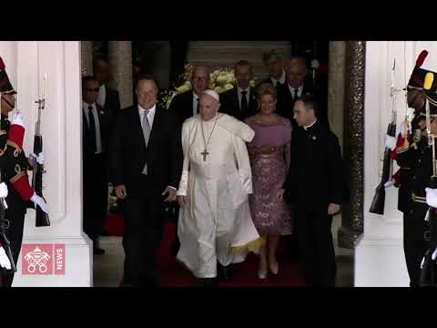 Pope Francis News - Welcoming Ceremony and Meeting with government authorities 2019-01-24
