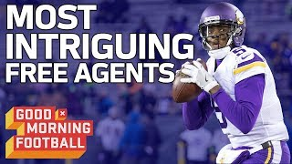The Most Intriguing Free Agent QB's & WR's | Good Morning Football