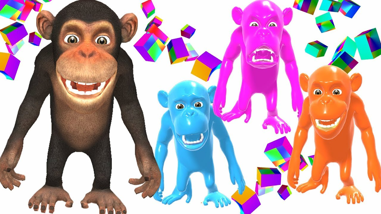Learn emotions with animals story: Angry, Sad, Happy Funny Monkey  - Cartoon for children