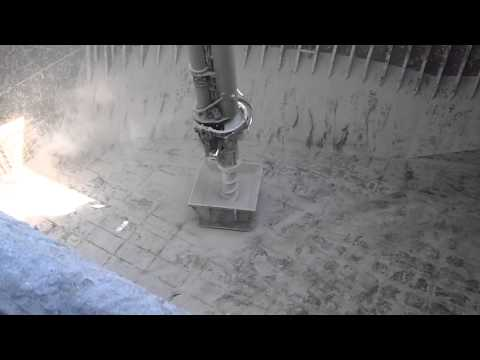 Cement Cleaning  from Bulk Carrier - final stage