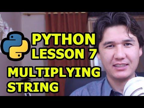 Multiplying string in Python Programming tutorial For Beginners | Urdu Hindi | Lesson 7 thumbnail