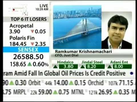 Justdial Featured On NDTV Profit Opening Fire