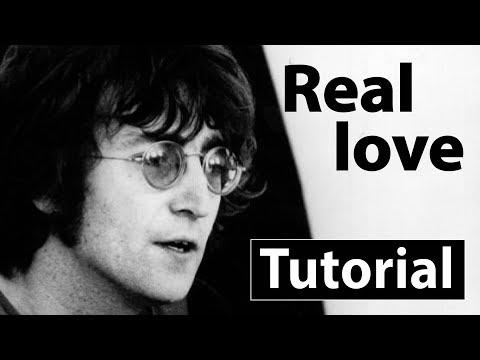 Como tocar Real loveJohn Lennon  Piano tutorial, partitura y Mp3