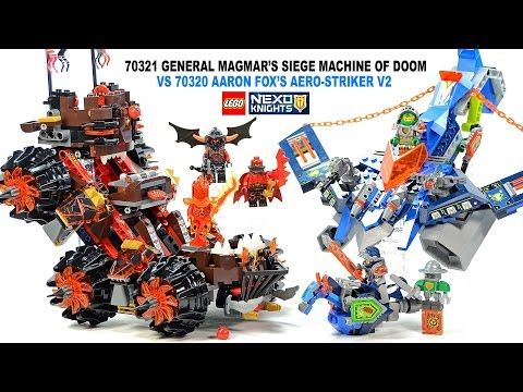 LEGO® Nexo Knights 70320 Aaron Fox's Aero-Striker V2 & 70321 General Magmar's Siege Machine of Doom