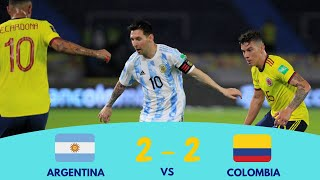 Argentina vs Colombia Fifa World cup qualifiers 2022 World cup qualifiers Argentina 2 2 Colombia