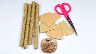 Most Beautiful Jute Craft Idea !!! Best Out of Waste !! jute Craft Decoration Design