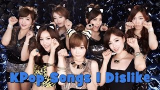 KPop Songs I Dislike