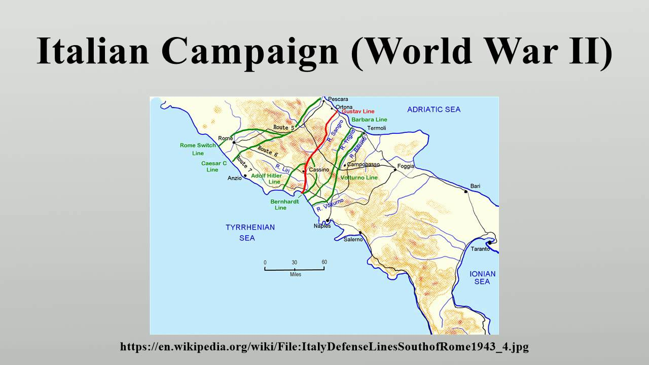 Italian Campaign World War II YouTube