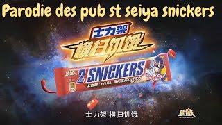 Parodie des pubs st  seiya snicker japonaise 😀