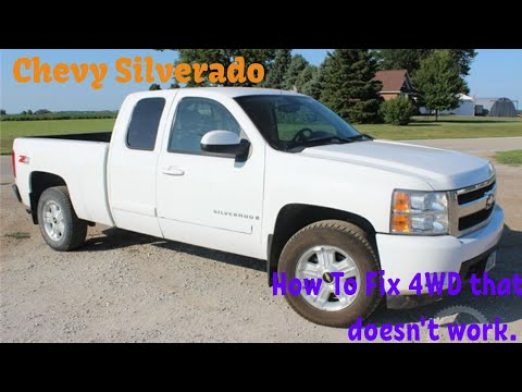 Chevy 1500 how to fix 4wd not working - YouTube