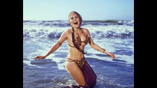"""Return of the Jedi"" Sexy Slave Princess Leia Gold Bikini Tribute"