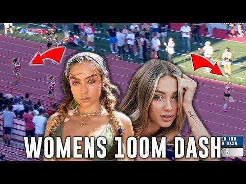 Charly JORDAN Smokes SOMMER RAY & JENA FRUMES In Women's 100m Dash