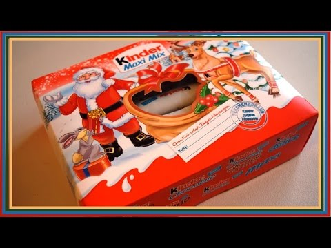 Видео, Kinder Maxi Mix Набор новогодний киндер сюрприз киндер подарки