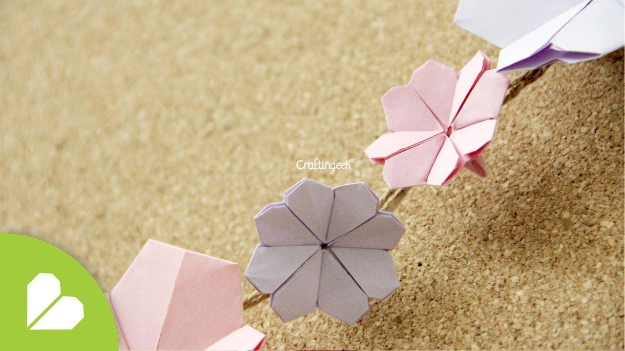 Origami: Flor de Cerezo // Cherry Blossom - YouTube - photo#17
