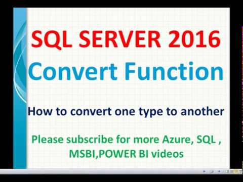 Convert Function In SQL   SQL Convert, Cast Functions