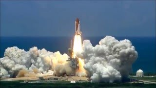 Space Shuttle launch with music