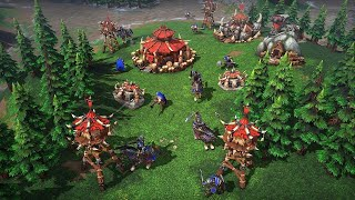 Playing Warcraft III Reforged, 4v4 and FFA, New Patch, Super Chat Enabled!