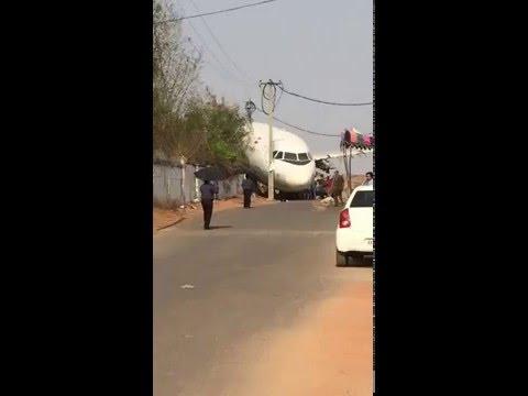 Plane Crash in Hyderabad India
