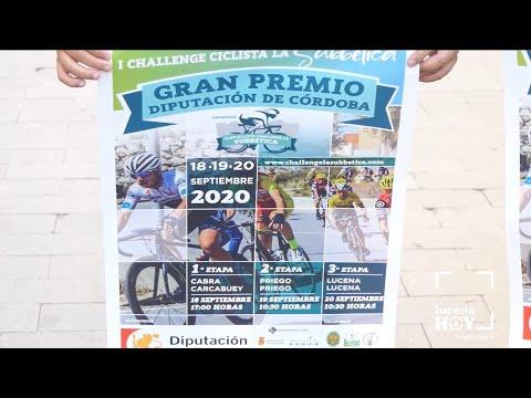 """VÍDEO: Lucena acogerá la etapa final de la I Challenge ciclista """"LaSubbética"""", presentada hoy"""