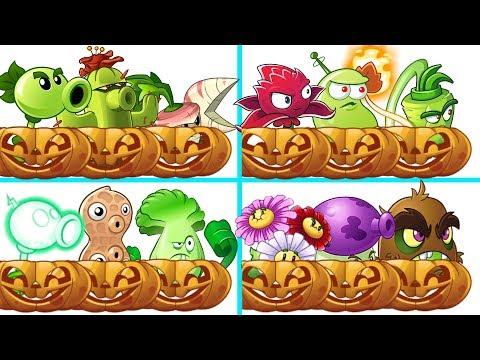 Plants Vs Zombies 2 Dificultad EXTREMA Equipo De Planta Mas Calabaza Vs Equipo De Super Zombies