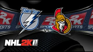 NHL 2K11 - Ottawa vs. Tampa Bay (Full Game)